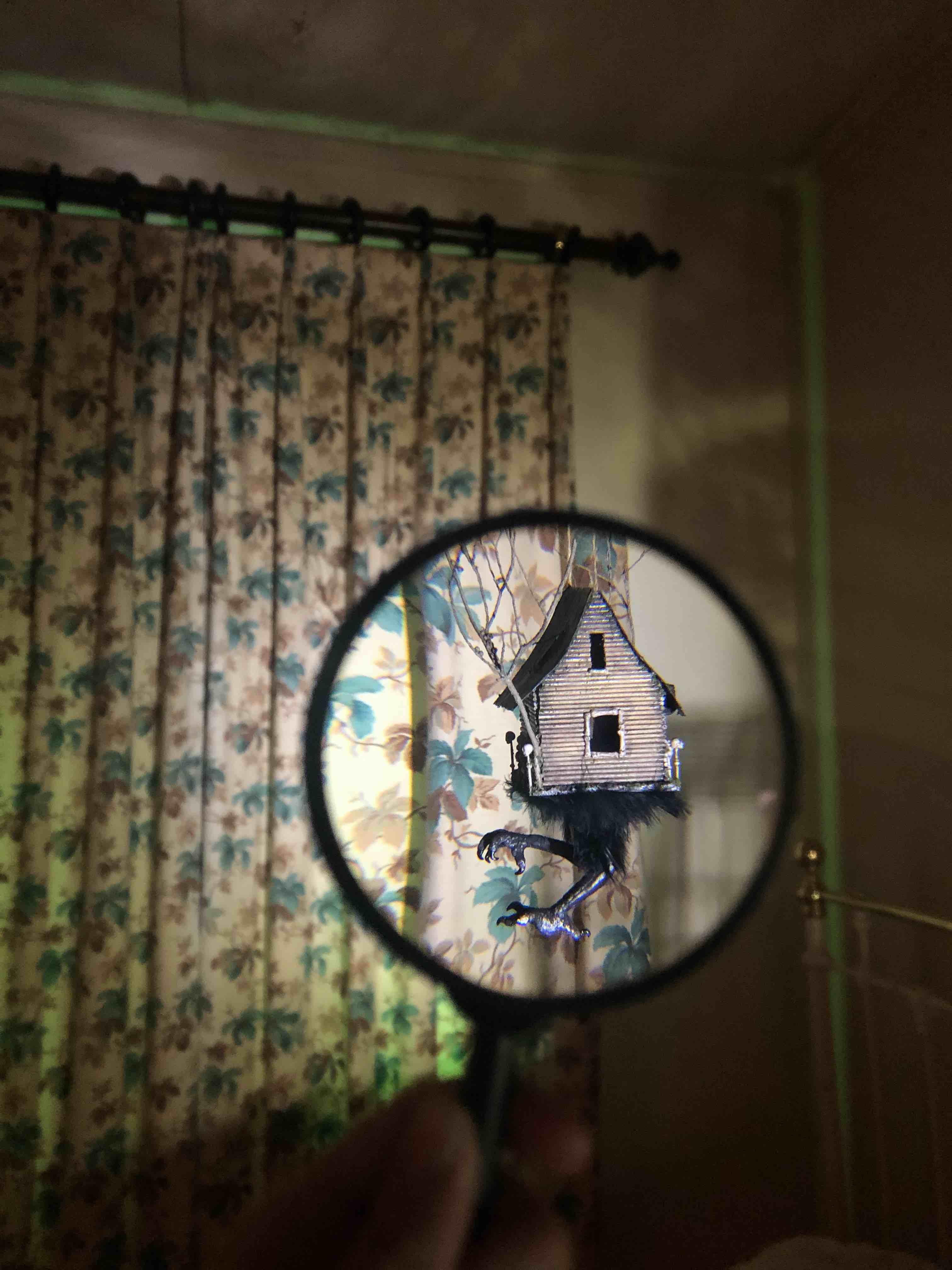 Tarryn Handcock, Baba Yaga's Hut (2021), shown at Doll House: Miniature Worlds of Wonder, Como House.